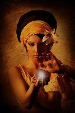 Mohamad Itani WOMAN FORTUNE TELLER WITH CRYSTAL BALL Women