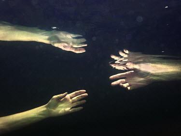 Stephen Carroll WOMANS HANDS UNDERWATER Body Detail