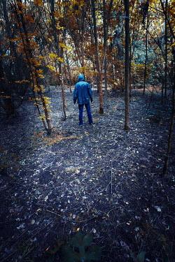 Tim Daniels HOODED MAN IN FOREST Men