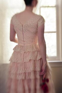 Susan Fox WOMAN IN PALE DRESS LOOKING OUT WINDOW Women