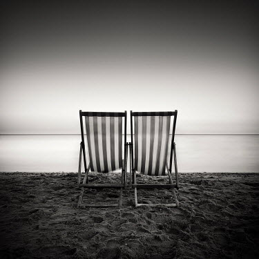 Rob Cherry deck chairs on beach Seascapes/Beaches