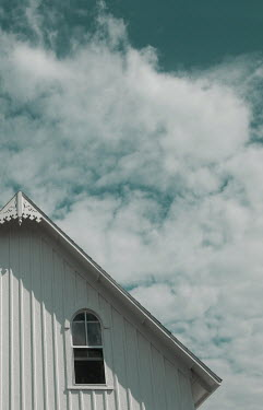 Joan Kocak HOUSE ROOD AND CLOUDY SKY Houses