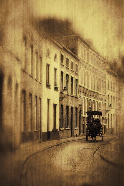 Irene Lamprakou VICTORIAN STREET WITH HORSE-DRAWN CARRIAGE Streets/Alleys