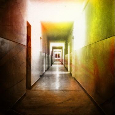 Lorand Ercsei EMPTY MODERN MARBLE CORRIDOR Interiors/Rooms