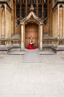 Holly Leedham WOMAN SITTING BY DOOR OF CATHEDRAL Women