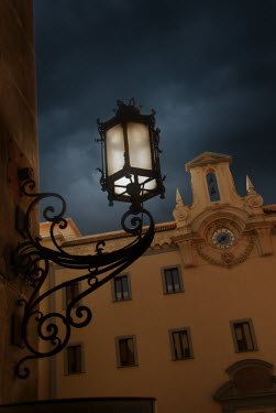Michael Trevillion OLD ITALIAN BUILDING WITH LAMP Miscellaneous Buildings