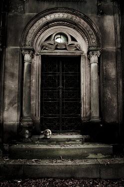 Valentino Sani SKULL ON STONE STEPS Building Detail