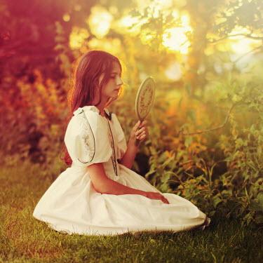 Iness Rychlik Girl sat in garden Children