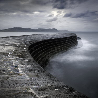 Jonathan Chritchley EMPTY COBB WITH SEASCAPE AT LYME REGIS Seascapes/Beaches