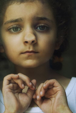 Mohamad Itani MIDDLE EATERN GIRL WITH NOSE SQUASHED AGAINST WINDOW Children