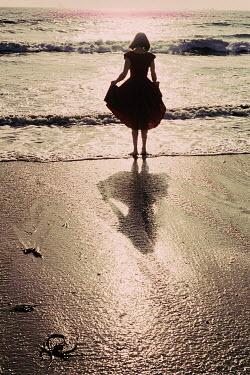 Sally Mundy OMAN STANDING IN SEA IN RED DRESS Women