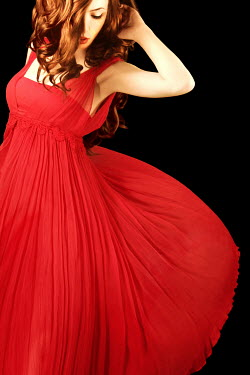 ILINA SIMEONOVA RED HAIRED WOMAN IN RED DRESS Women