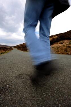 Clint Hughes MEN'S LEGS IN JEANS WALKING Body Detail