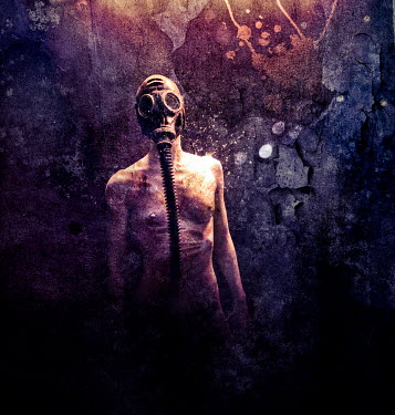 Christophe Dessaigne NAKED WOMAN IN GAS MASK Women