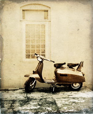 Gary Isaacs PARKED SCOOTER BY WINDOW Miscellaneous Transport
