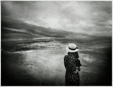 Gary Isaacs WOMAN AND HILLY LANDSCAPE Women