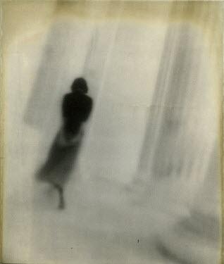 Gary Isaacs WOMAN WALKING BY COLUMNS Women