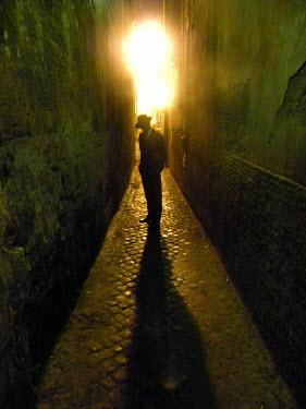 Grant Hopkinson Man stood in alleyway Men