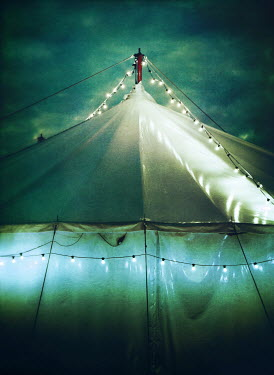 Mark Owen TENT AT NIGHT WITH FAIRY LIGHTS Miscellaneous Buildings