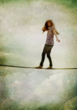Mark Owen Child on tightrope Children