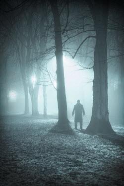 Lee Avison MAN STANDING BY TREES AT NIGHT Men