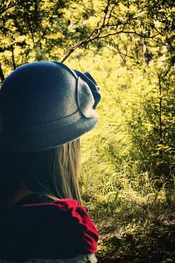 Elisabeth Ansley WOMAN WEARING HAT IN COUNTRYSIDE Women