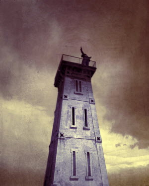 Kamil Vojnar MAN STANDING ON TOWER WITH OUTSTRETCHED ARMS Men