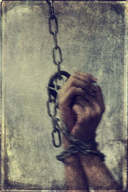 Mohamad Itani MALE HANDS TIED IN CHAINS Body Detail