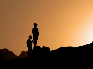 Katarina Ivicevic TWO YOUNG BOYS ON ROCKS Children