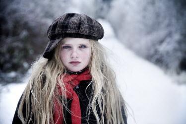 Jennifer Short UNHAPPY BLOND GIRL IN WINTER Women