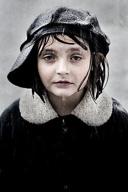 Jennifer Short GIRL WITH CAP IN RAIN Children