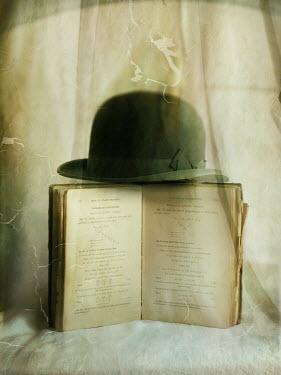 Richard Tuschman BOWLER HAT BALANCING ON BOOK Miscellaneous Objects
