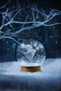 Richard Tuschman GIRL IN SNOW GLOBE Miscellaneous Objects
