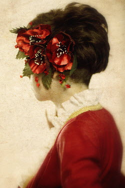 Yulya Saponova HEAD OF WOMAN WITH RED FLOWERS Women