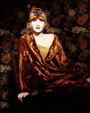Alexa Garbarino 1920'S WOMAN IN VELVET WITH HAT Women