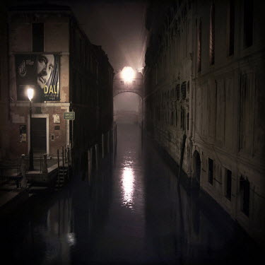 Cate Davies CANAL AT NIGHT IN VENICE Specific Cities/Towns