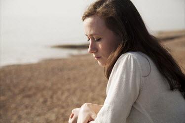 Lauren Leake-Lyall SAD WOMAN BY BEACH IN SUMMER Women