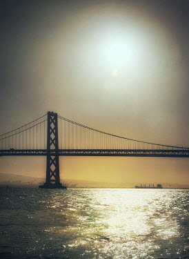 Mark Owen SUSPENSION BRIDGE WITH SHIMMERING RIVER Bridges