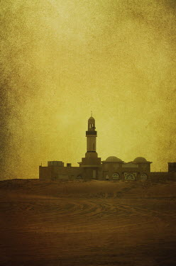 Mohamad Itani MOSQUE IN DESERT WITH TOWER Religious Buildings