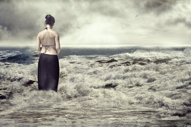 Laura Franco WOMAN STANDING IN SEA IN SKIRT Women