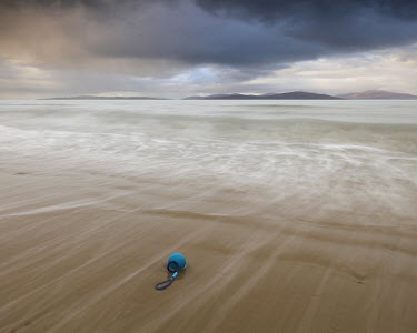 David Baker CALM SEA WITH BLUE BUOY Seascapes/Beaches