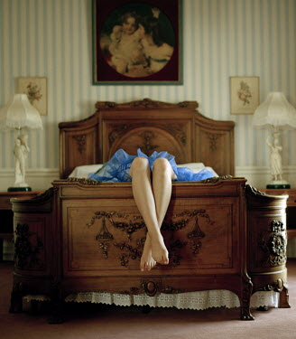Rebecca Miller LEGS OF WOMAN DANGLING FROM BED Body Detail