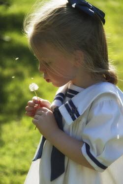 Elisabeth Ansley YOUNG GIRL BLOWING DANDELION Children