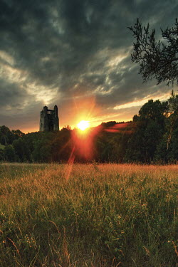 Elisabeth Ansley OLD TOWER AT SUNSET IN LANDSCAPE Miscellaneous Buildings