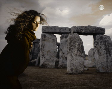 Nina Pak WOMAN IN CLOAK BY STONEHENGE Women