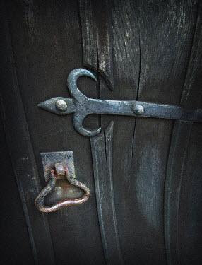 Philip Askew OLD DOOR WITH IRON HANDLE Building Detail