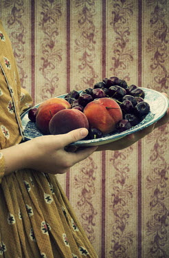 Elisabeth Ansley FEMALE HANDS HOLDING BOWL OF FRUIT Women