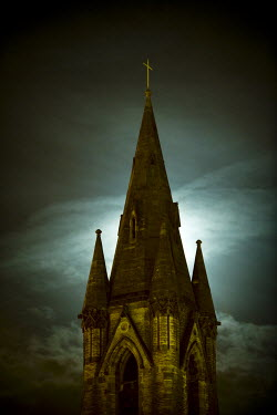 Lee Avison CHURCH STEEPLE WITH CROSS Religious Buildings
