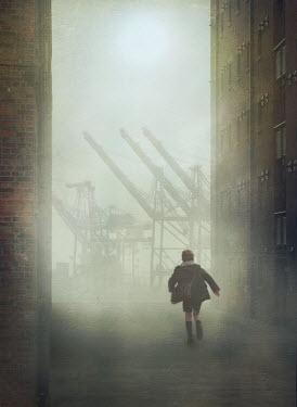 Mark Owen SCHOOLBOY RUNNING IN STREET BY DOCKS Children