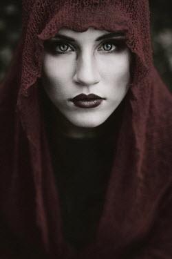 Karolina Kumorek DRAMATIC WOMAN WITH RED SCARF Women